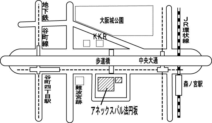 アネックスパル法円坂の地図